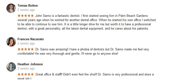 Google + Reviews for John Sarno DMD