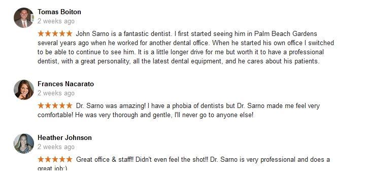 Google + Reviews for John Sarno DMD